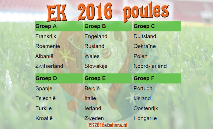 KE 2016 poules